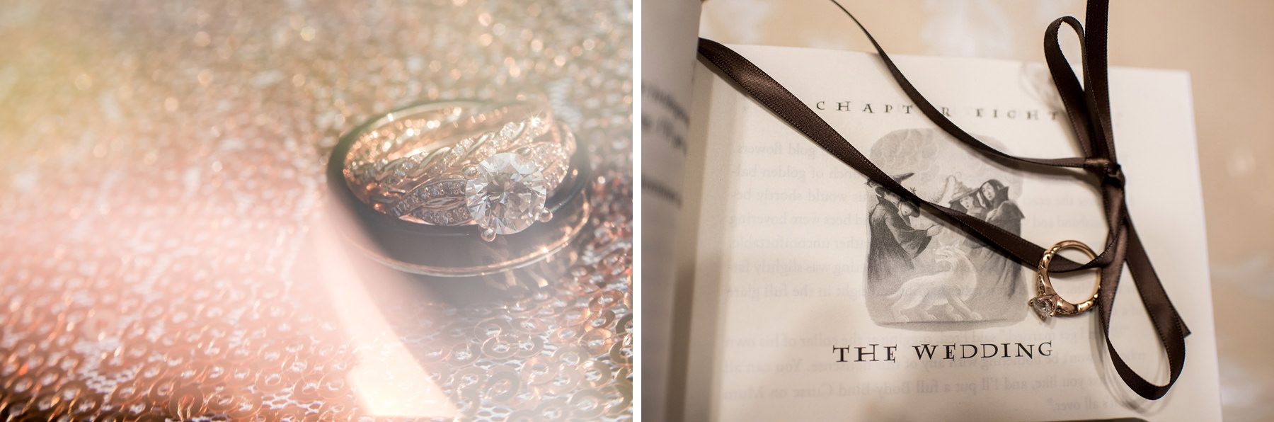 harry potter book and wedding ring