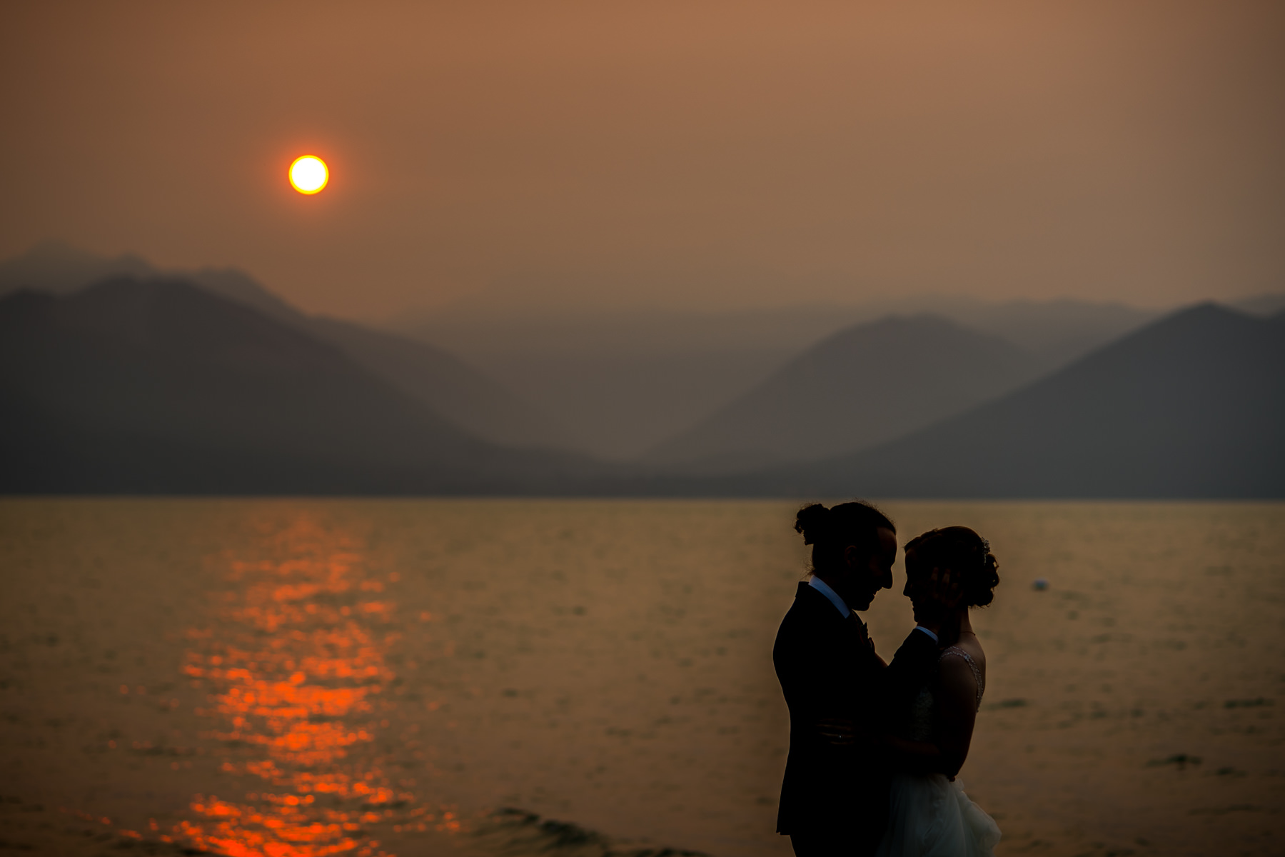 seabeck wedding sunset