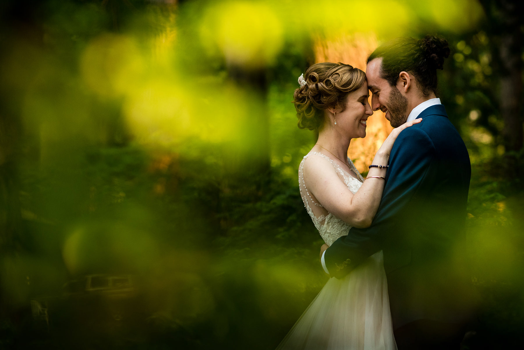 creative forests wedding photo