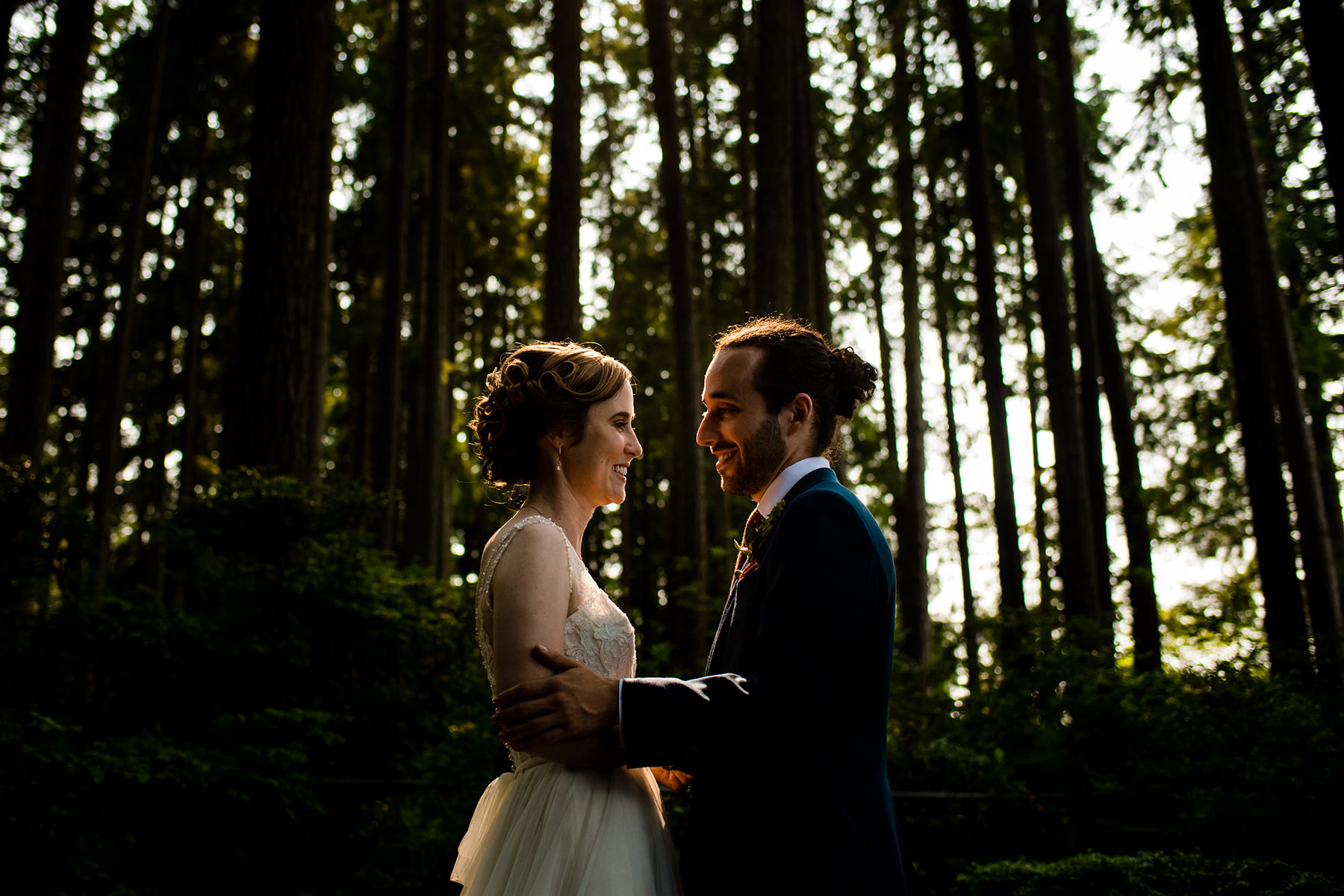 kitsap forest wedding portraits