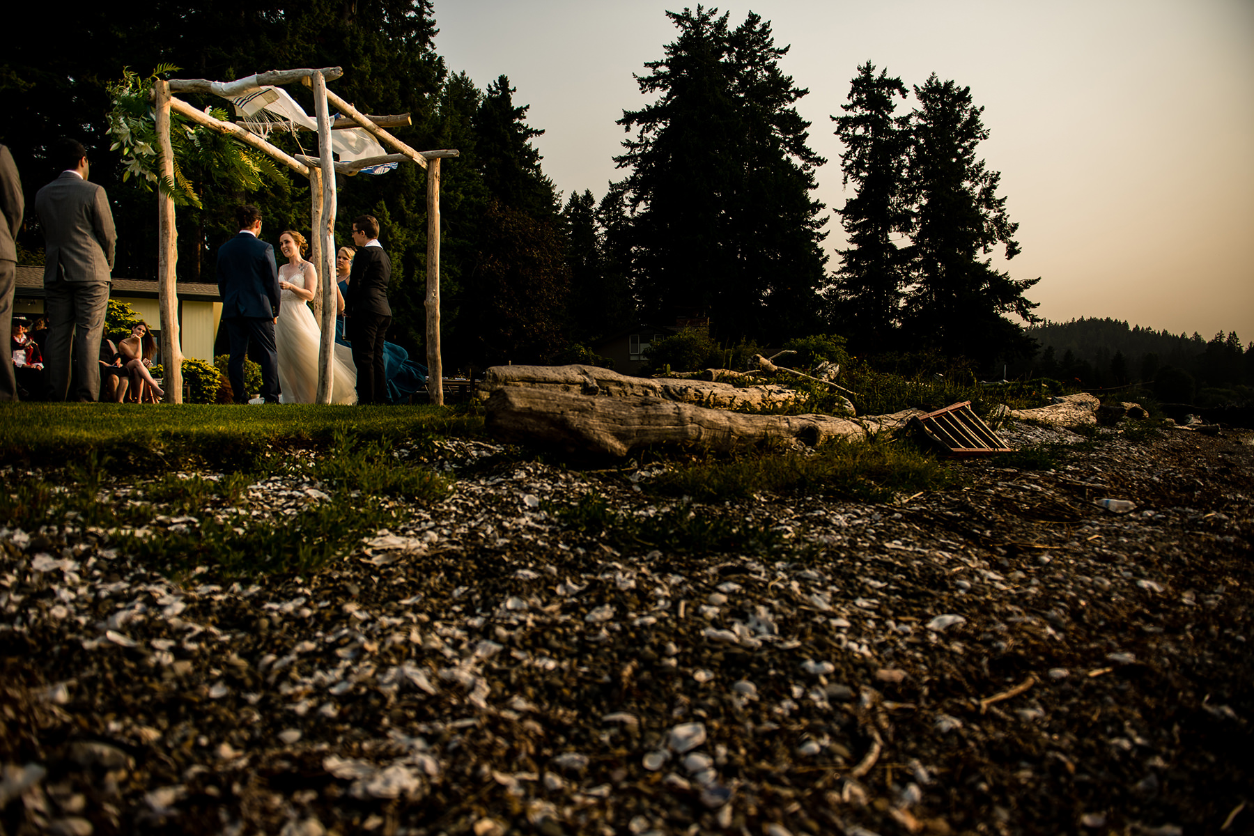 seabeck waterfront wedding ceremony