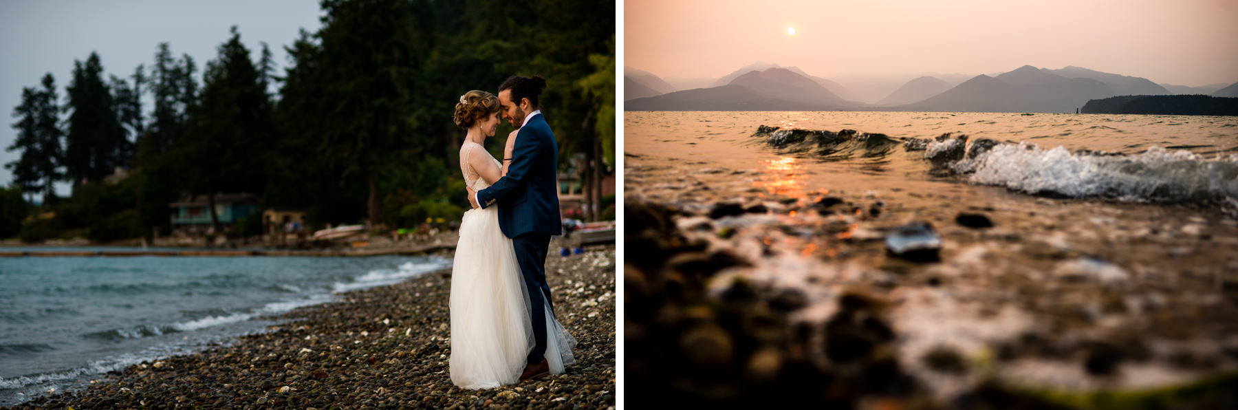seabeck waterfront wedding portraits