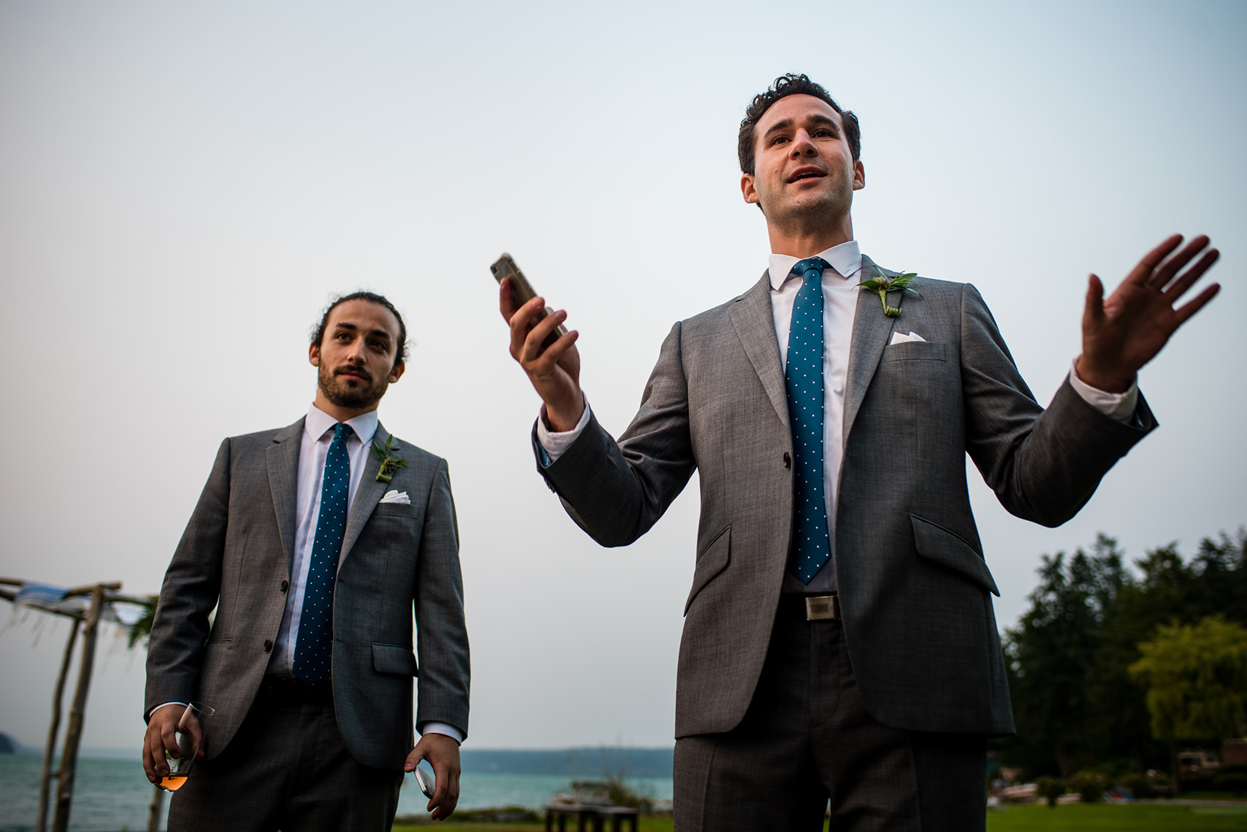 brothers give wedding toast