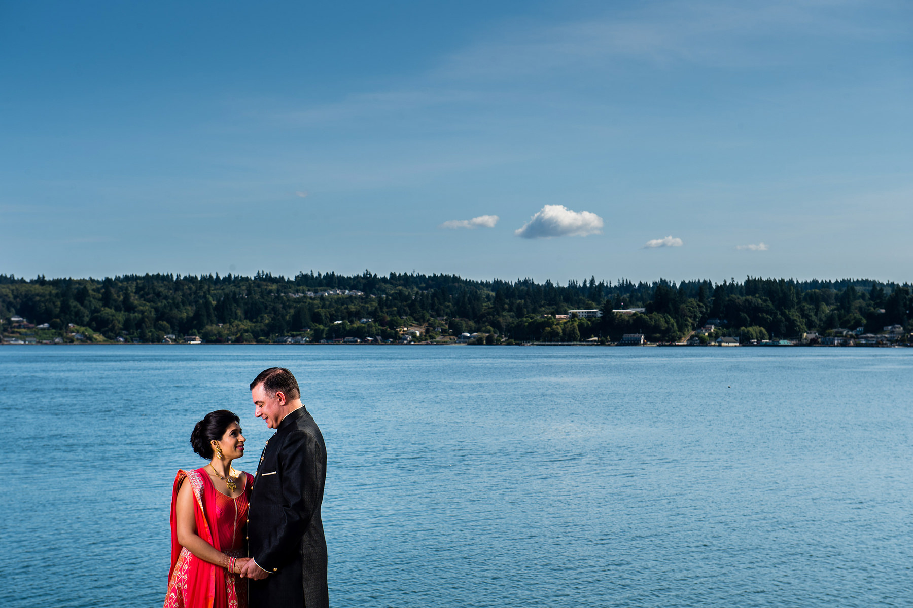 bremerton harbor side wedding portrait