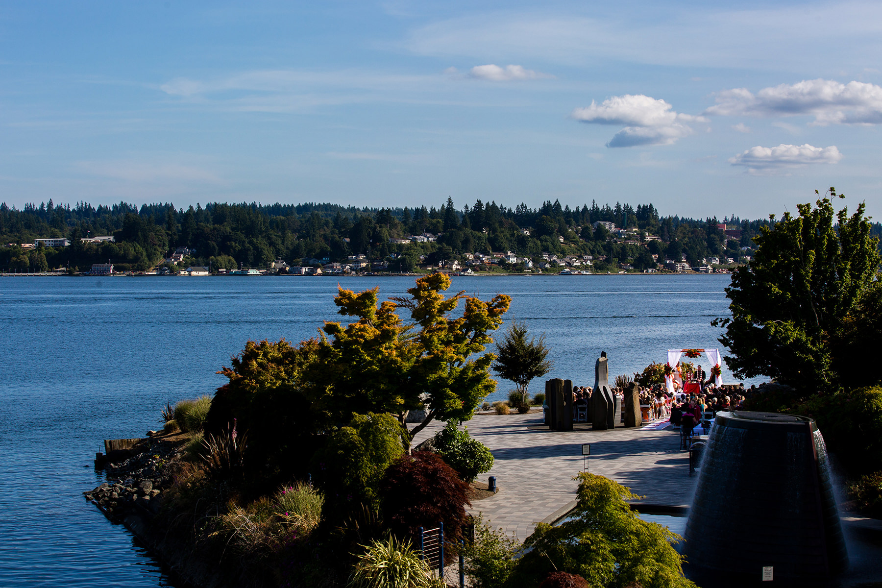 Kitsap Conference Center Harbor side Wedding