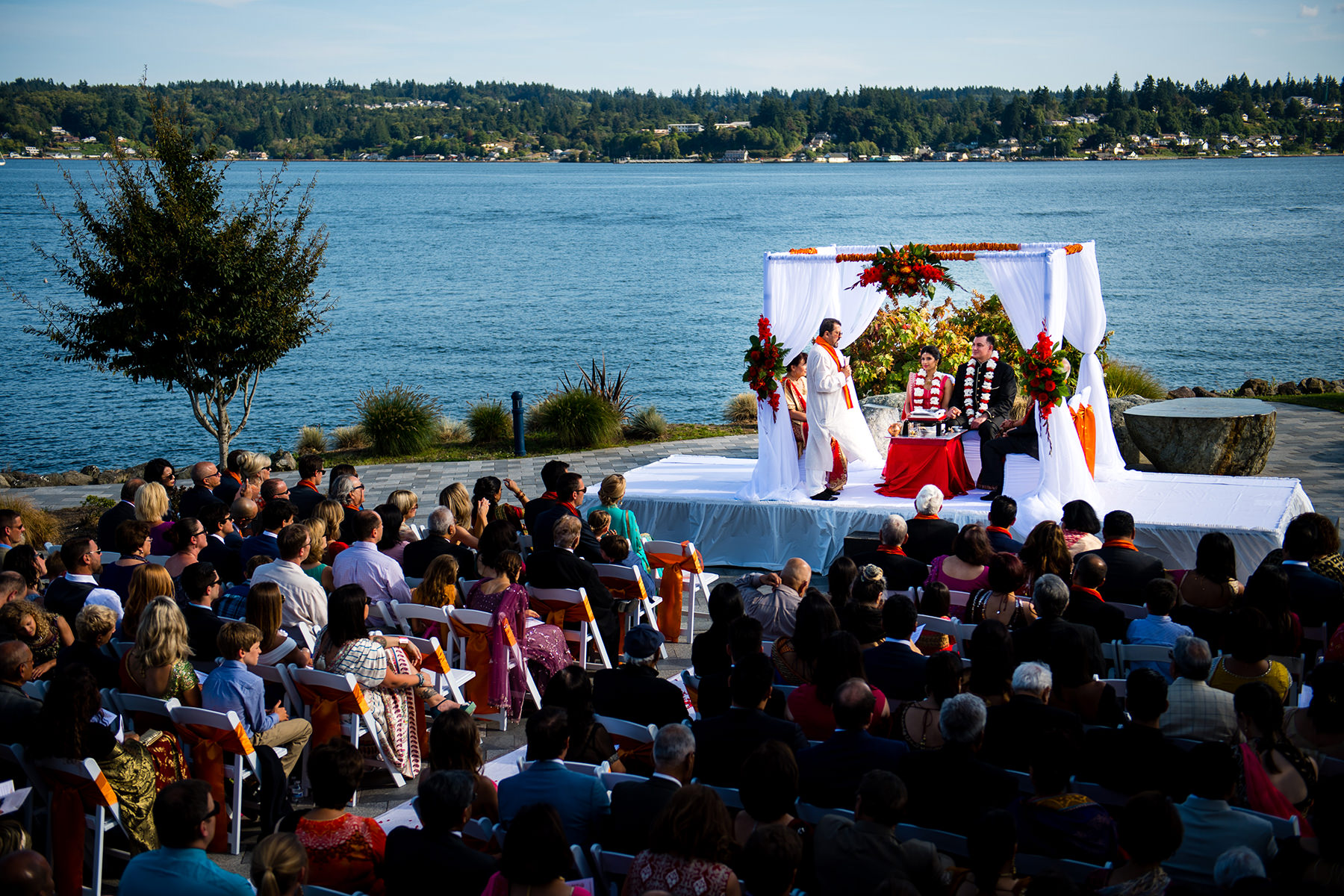 Kitsap Conference Center Harbor side Indian Wedding